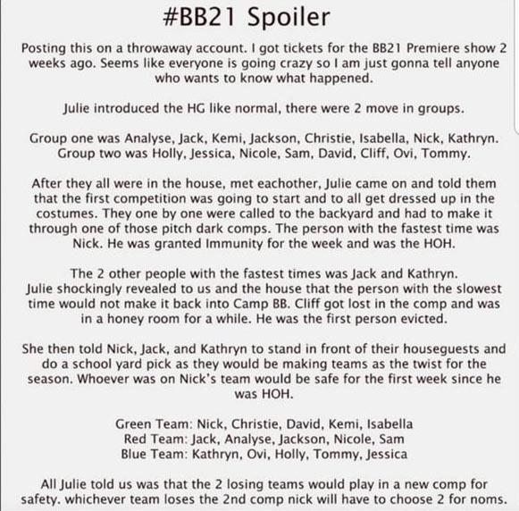 #BB21 Spoiler